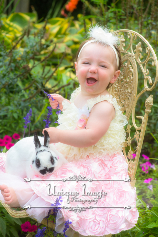 Tea Party Portrait Session In The Garden For Little Girl S